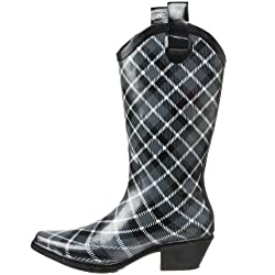 dav Women's Western Cowboy Plaid Boot
