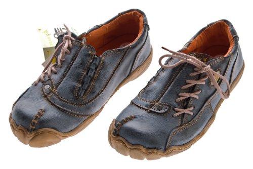 Comfort Damen Leder Schuh von TMA EYES Schwarz Used Look Schuhe echt Leder Gr. 36
