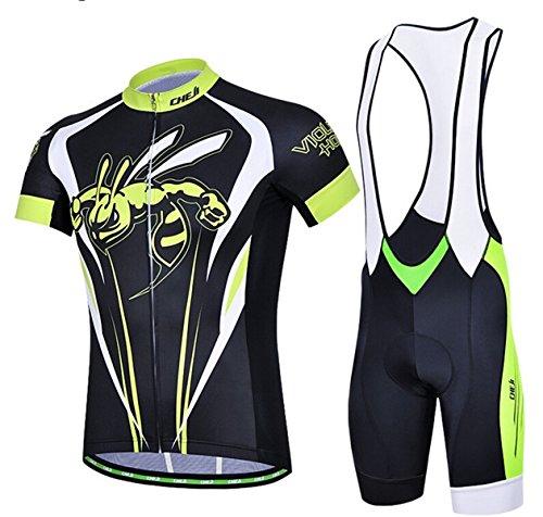 Speciale estate Ciclismo Jersey cinghia manica corta ciclismo all'aperto di camicia Abiti (BLHFH, L)