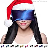 Unscented Eye Pillow Yoga Eye Pillow For Stress & Migraine Relief Eye Pillows Made In Usa. Use Hot Or Cold For Stress Relief, Headaches, Sinus Pain & To Relax. By Happy Wraps The Perfect Gift! (Sapphire)