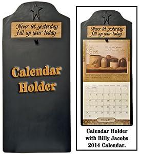 Calendar Holder - Primitive Country Rustic Black