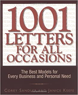 1001 Letters For All Occasions Amazoncouk Corey