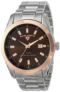Swiss Legend Men's 21397-44-RB Classic Analog Display Swiss Quartz Silver Watch