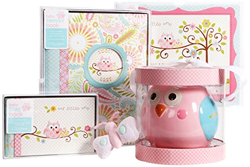 C.R. Gibson New Mom and Baby Shower Gift Assortment, Happi Baby Girl