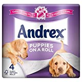 Andrex Puppies on a Roll Toilet Tissue Rolls - 210 Sheets per Roll (4)
