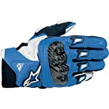 Alpinestars SMX-2 Air Carbon Gloves - Small/Blue/White