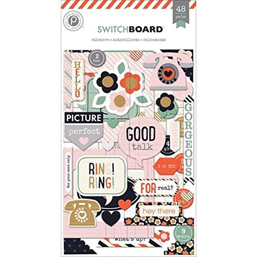 Pink Paislee Switchboard Chip Sticker Set - 1
