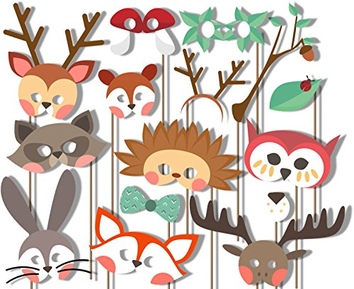 woodland-animals-photo-booth-props-kit-20-pack-party-camera-props-fully-assembled
