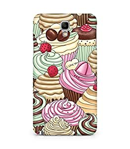 Amez designer printed 3d premium high quality back case cover for Samsung Galaxy Note 3 Neo (Cupcakes texture background art)