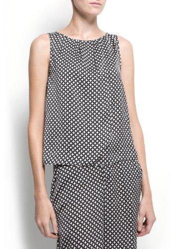 Mango Women's Sleeveless Printed Top