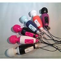 携帯便利な「ミニマッサージスティック・ストラップ付」小型マッサージ 電マ 毎分7500回転のパワフル振動! (ブルー)