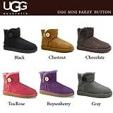 [アグ] UGG Womens mini Bailey Button/ミニ ベイリーボタン/ブーツ/ムートンブーツ/3352[並行輸入品] (US6(23.0-23.5cm), Grey)