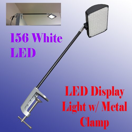 Dsm Tm 156 White Led Diplsay Light W/ Metal C-Clamp For Trade Show Booth / Panel/ Presentation/ Display/ Tension Booth Podium And Display Panel W/ C-Type Adapter Super Bright Tension Las Vegas Approved, Ul Approved
