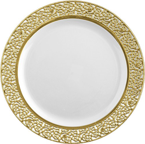 inspiration-white-with-gold-lace-rim-1025-heavyweight-plastic-dinner-plates-10-count