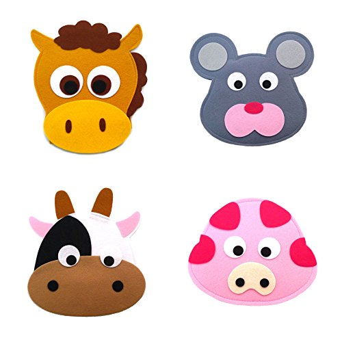 Animal Headband masks horse+mouse+cow+pig