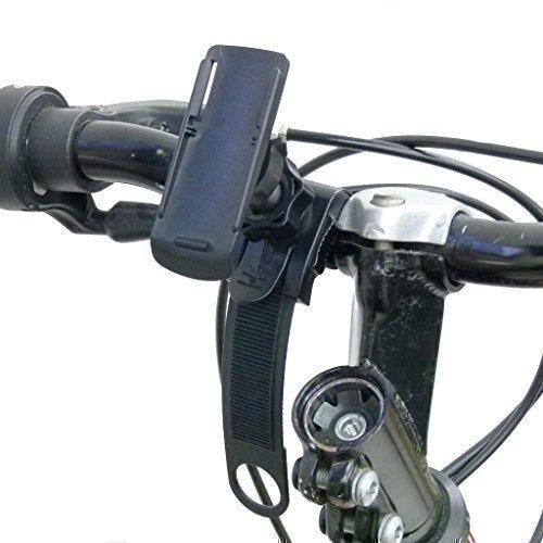 BuyBits supporto bici con cinturino di chiusura per Garmin Oregon 200 300 400t 450 450t 550 550t 600 600t 650 650t