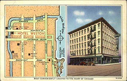 Hotel Weston Chicago, Illinois Original Vintage Postcard (Weston Hotel compare prices)