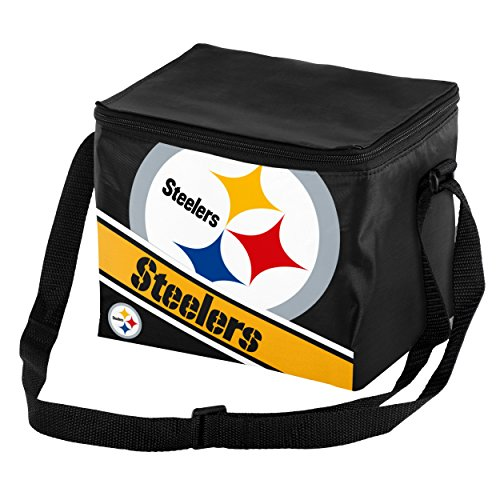 NFL Pittsburgh Steelers Big Logo Stripe Cooler (6 Pack), One Size, Team Color (Steelers Merchandise Under $12 compare prices)