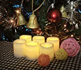 Battery Operated Candles - 6 Unscented Small Flameless Candles, 70+ Hours of Lighting (For Each Individual Candle), 6 Extra Batteries Included, LED Candles, Flameless Candle Set, Votive Candles, Decorations, Wedding Favors, Souvenirs, Centerpieces, Wedding Decor