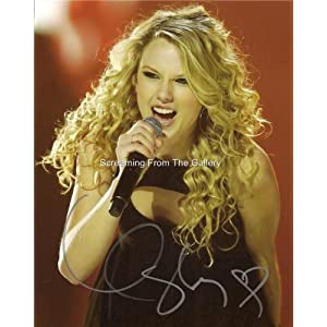 Taylor Swift Autograph on Com  Taylor Swift Hand Signed 8x10 Country Music On Stage Autographed