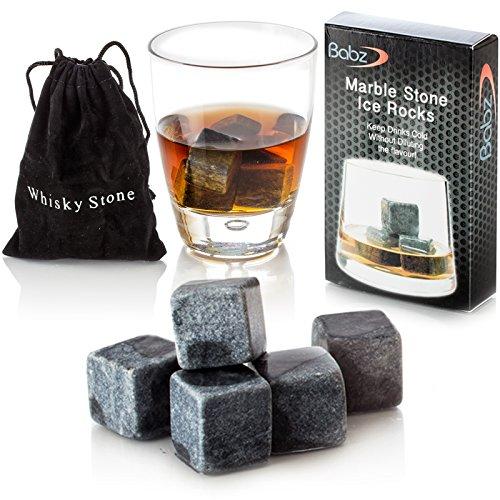 Babz Whiskey Eis Steine wiederverwendbarer Eiswürfel Granitsteine Getränkekühler