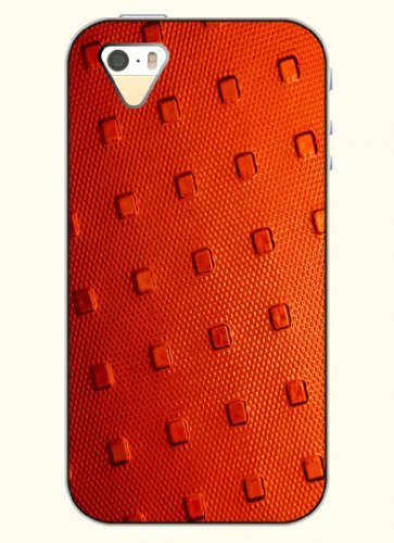 Oofit Phone Case Design With Red Metal Pattern For Apple Iphone 5 5S 5G