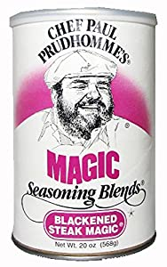 Chef Paul Blackened Steak Magic Seasoning, 20-Ounce Canisters (Pack of 2)