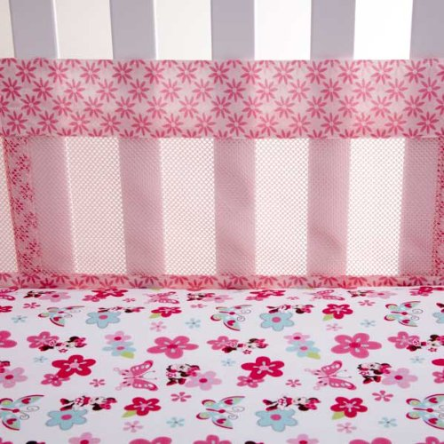 Disney Minnie's Garden Secure Me Crib Liner (Discontinued by Manufacturer) - 1