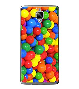 Multi colour Balls 2D Hard Polycarbonate Designer Back Case Cover for OnePlus 3 :: OnePlus Three