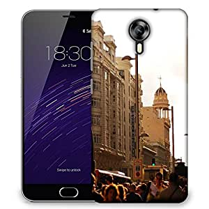 Snoogg Peoples In Street Designer Protective Phone Back Case Cover For Meizu M2