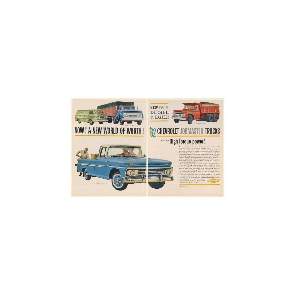1962 Chevy Fleetside Pickup Corvair 95 Corvan Medium Heavy
