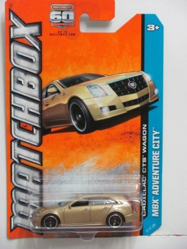 Matchbox MBX Adventure City Cadillac CTS Wagon Gold #52 of 120