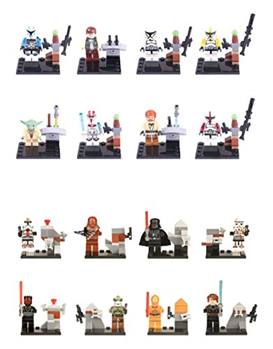 BIGOCT Lego Compatible Star Wars Minifigures Clone Troopers Jedi Rex Action Figure, Multicolor, One Size