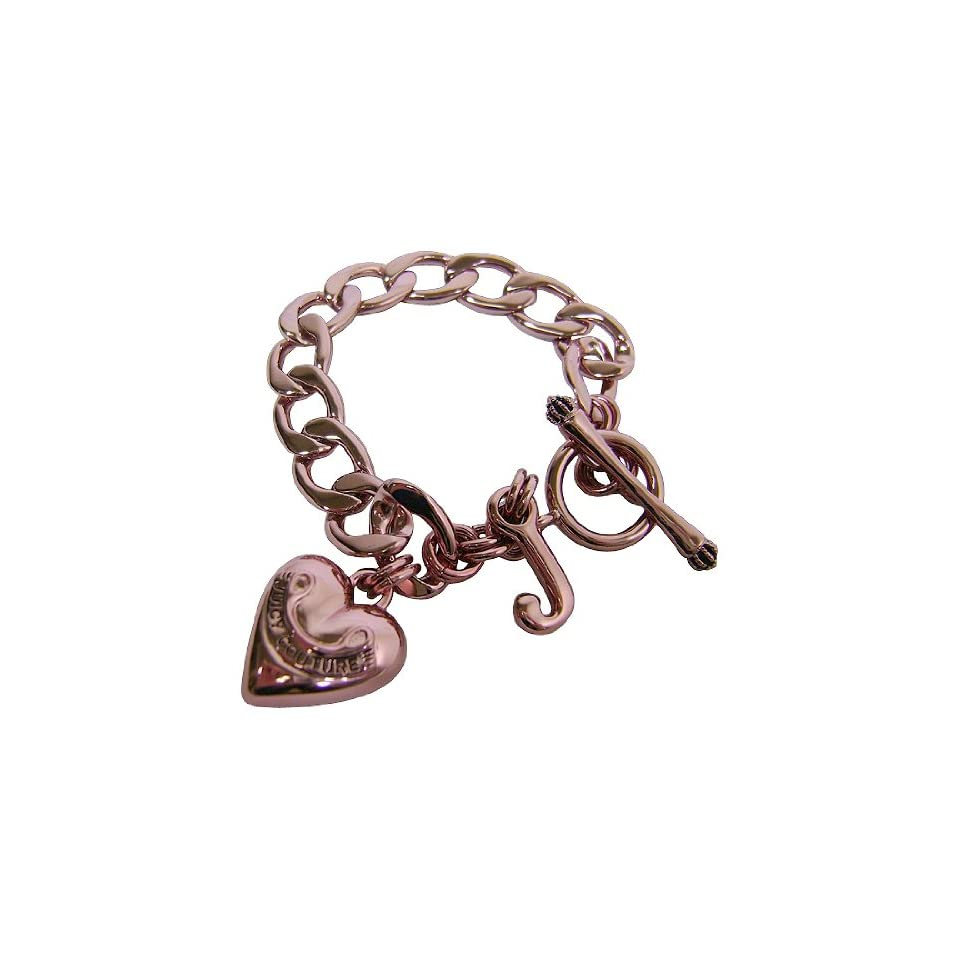Juicy Couture Pink Heart Starter Charm Bracelet Clothing