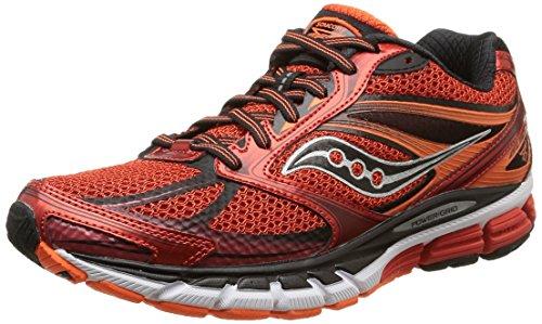 Saucony Men's Guide 8 Running Shoe, Red/Black/Orange,10.5 M US