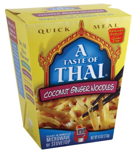 A Taste of Thai Coconut Ginger Noodles Quick Meal, 4-Ounce Boxes (Pack of 6) by A Taste of Thai
