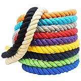 FMS Super Soft Triple-Strand Twisted Cotton Rope (Tan)(1/4 Inch x 10 Feet)