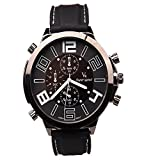 iSweven isweven Fancy Racing series big dial colored digit waterproof Mens'watch Analogue Black Unisex Wrist Watch W1025aa