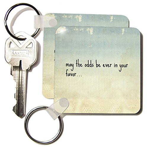 Xander Movie Quotes - May The Odds Be Ever In Your Favor, Black Lettering On Papyrus - Key Chains - Set Of 2 Key Chains ( Kc_172380_1)
