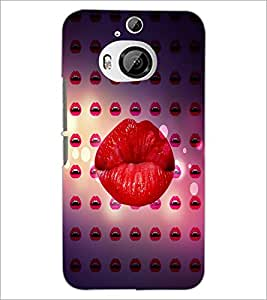 PrintDhaba Lips D-4370 Back Case Cover for HTC ONE M9 PLUS (Multi-Coloured)