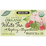 Bigelow Organic White Tea with Raspberry & Chrysanthemum, 20 count, 0.91 Ounce Box