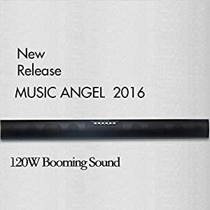 MUSIC ANGEL 35-Inch TV Sound bar & Satellite Speakers Wireless Subwoofer Stereo Speaker Bluetooth 4.0, Line-in, Used with Micro SD/TF, USB