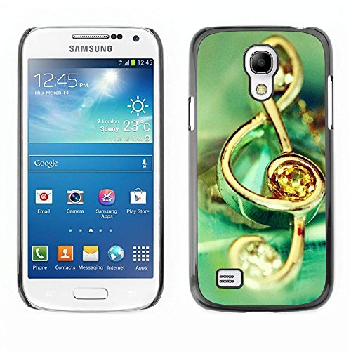 GRECELL CITY GIFT PHONE CASE /// Cellphone Protective Case Hard PC Slim Shell Cover Case for Samsung Galaxy S4 Mini i9190 /// Music symbol jewelry