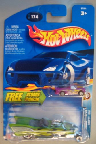 Hot Wheels 2003 Wastelanders Chevy 1957 GREEN Atmoix - 1