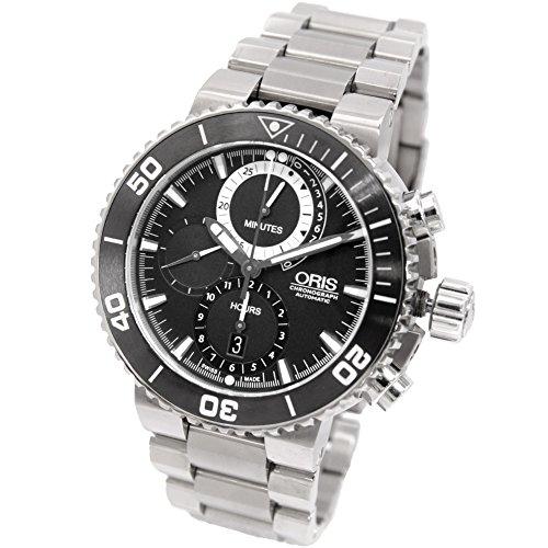 [オリス]ORIS 腕時計 [カルロス・コステ 2000本限定]セノーテシリーズ ダイバーズ カルロス・コステクロノ自動巻き 674.7655.7184 メンズ 中古