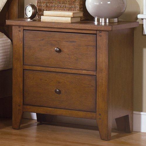 Liberty Hearthstone 2 Drawer Nightstand - Rustic Oak, Wood front-887810