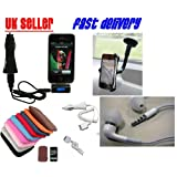 FM transmitter + car HOLDER handsfree+ soft POUCH + headphones + retractable usb CABLE + car CHARGER all for YOUR iPhoneby Good Bits