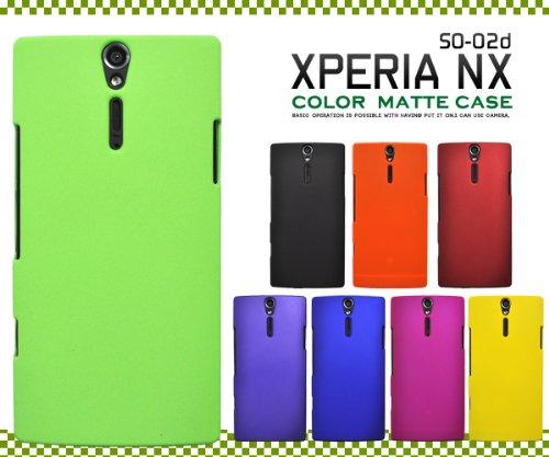 【ブルー】Xperia NX SO-02D用マットカラーケース