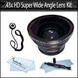.43x HD Super Wide Angle Panoramic Macro Fisheye Lens For The Sony Alpha NEX-5 NEX-3 NEX-C3 Digital Camera Which Have The Sony E Series (16mm 18-55mm) Lens + Lens Pen Cleaning Pen + Lens Cap Keeper + MicroFiber Cleaning Cloth