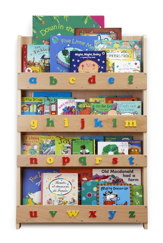 Tidy Books Children's Bookcase (Clear, Lowercase)